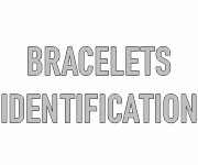 Bracelets identification personnalisables