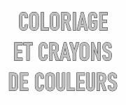 Crayons de couleur, coloriages