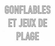 Gonflables et jeux de plage personnalisables