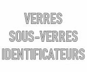 Verres, sous-verres et identificateurs personnalisables