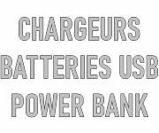 Chargeurs, batteries USB, power bank personnalisables