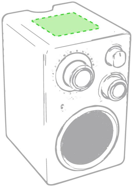 Marquage Haut-parleurs radio tuny