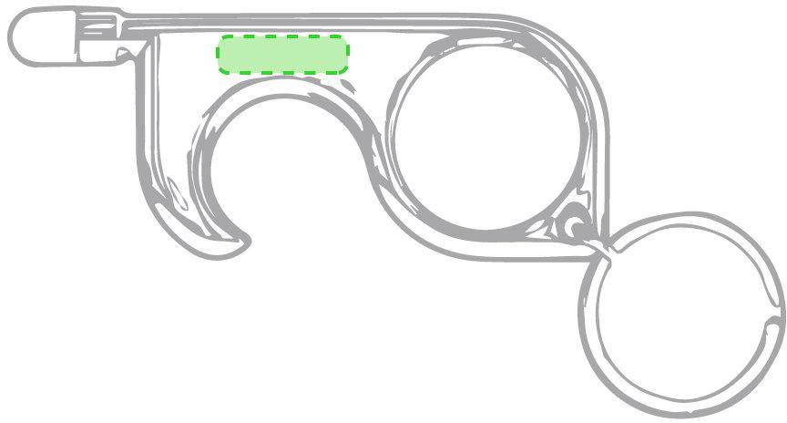 Marquage Porte-clés anticontact cimak